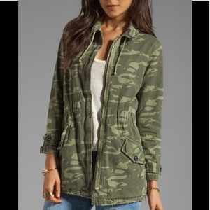 MONROW Camo Jacket Camouflage Military Trench Army